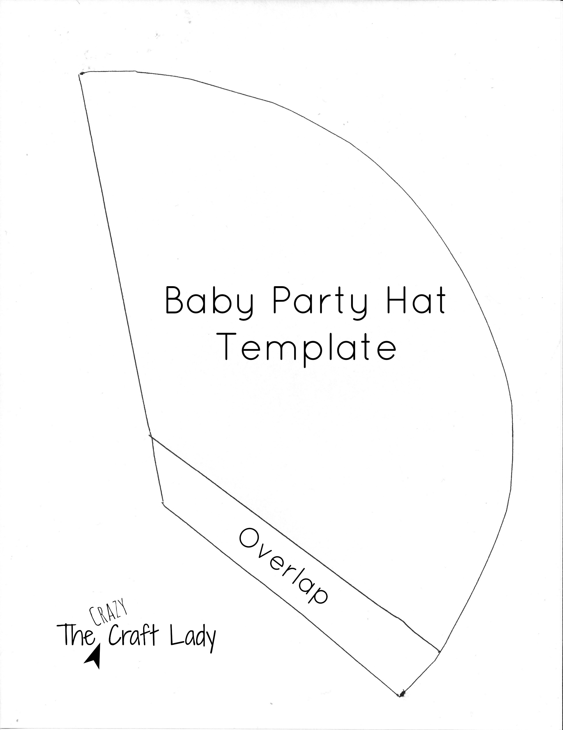 Baby Party Hats And Free Printable Template - The Crazy Craft Lady - Free Printable Party Hat