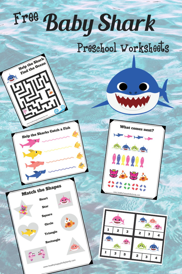 Baby Shark Free Printable Preschool Pack | The Best Kids Crafts And - Free Baby Shark Printables