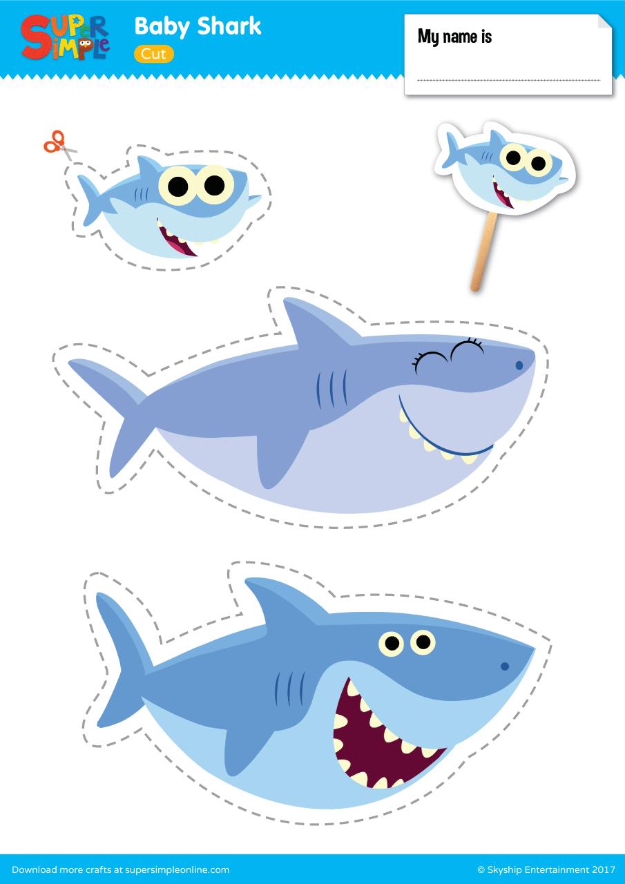 Baby Shark Play Set - Super Simple - Free Baby Shark Printables