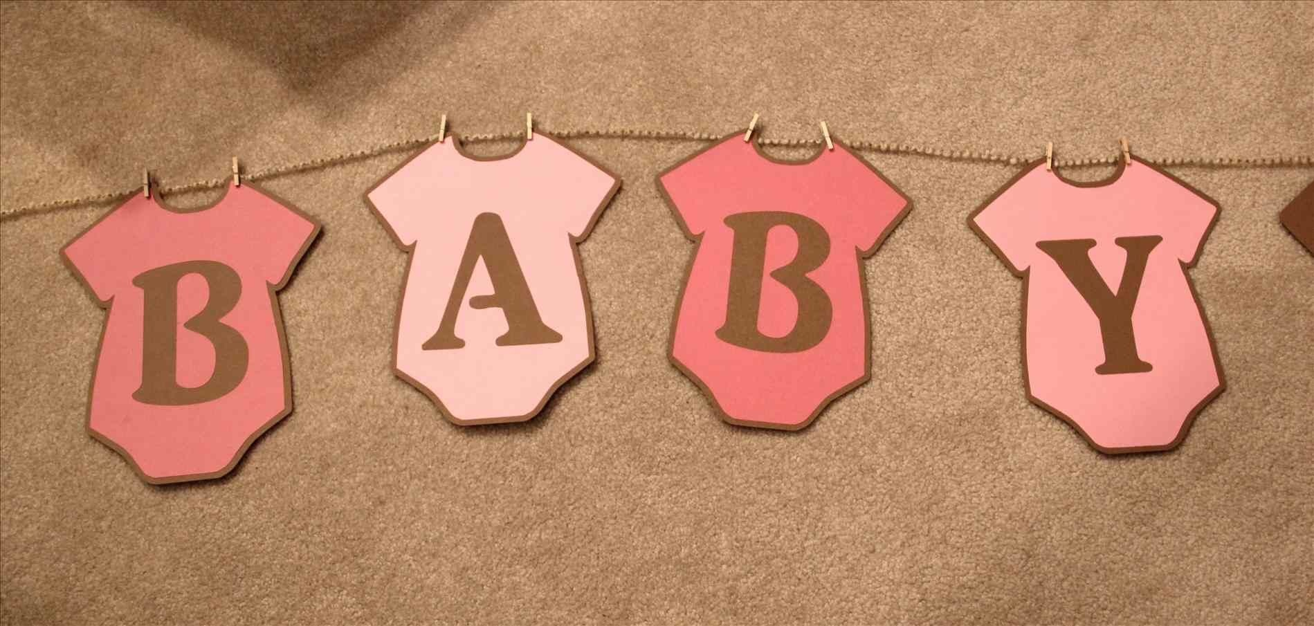 Baby Shower Banner Free Printable. Whole Alphabet Banner Pink Gold - Baby Girl Banner Free Printable