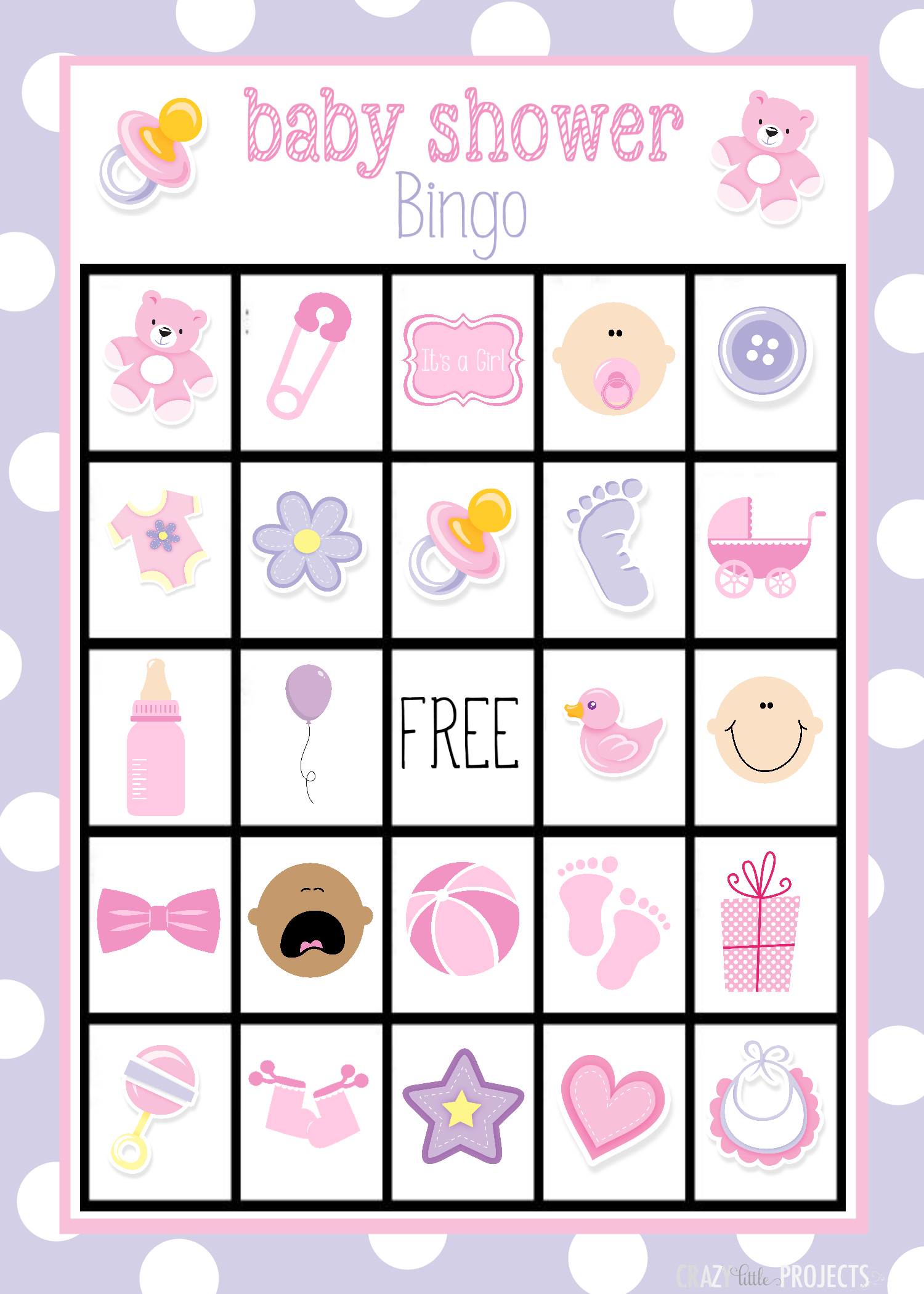 Baby Shower Bingo Cards - Free Printable Baby Shower Bingo Cards