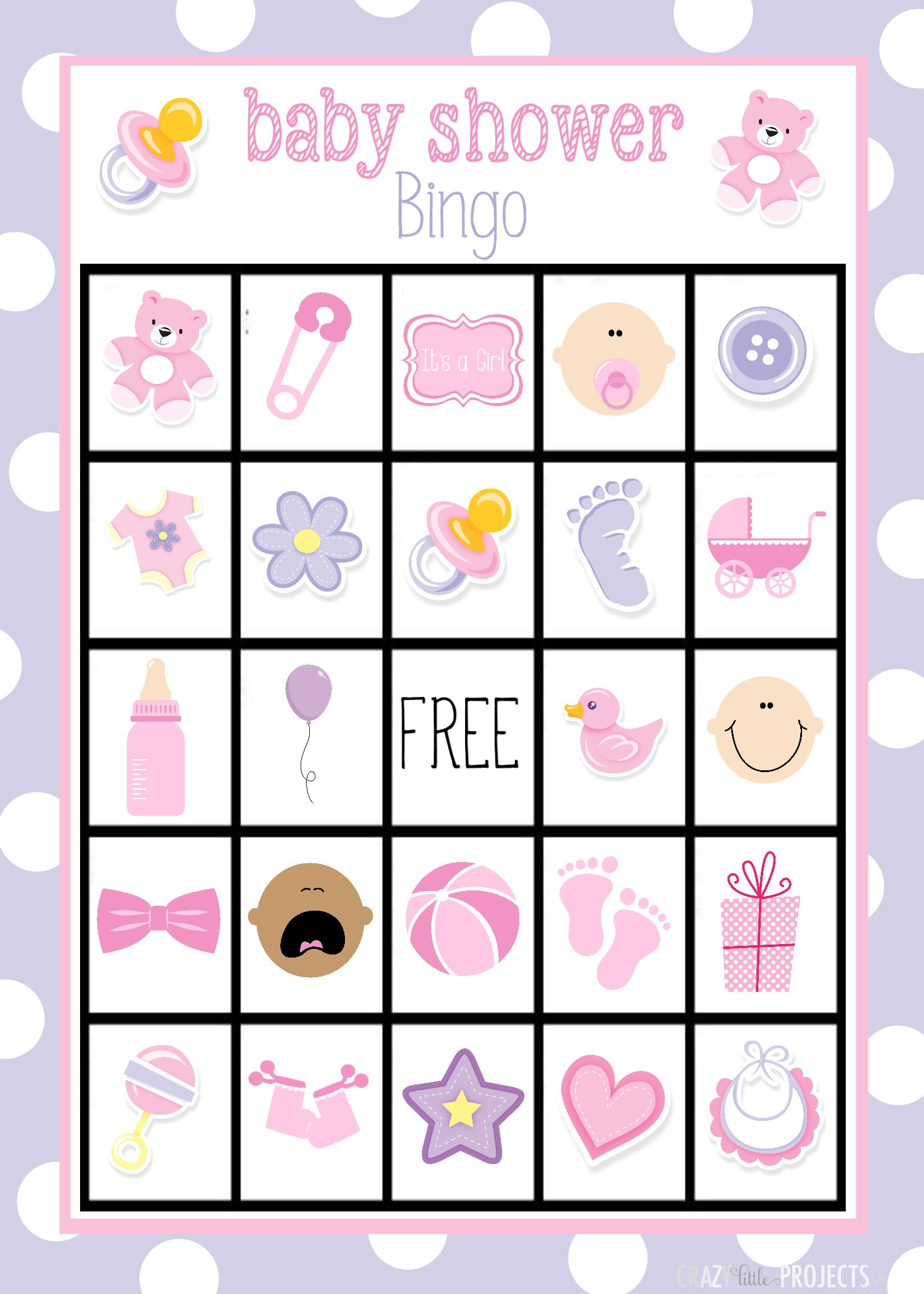 Baby Shower Bingo Cards - Free Printable Baby Shower Bingo For 50 People