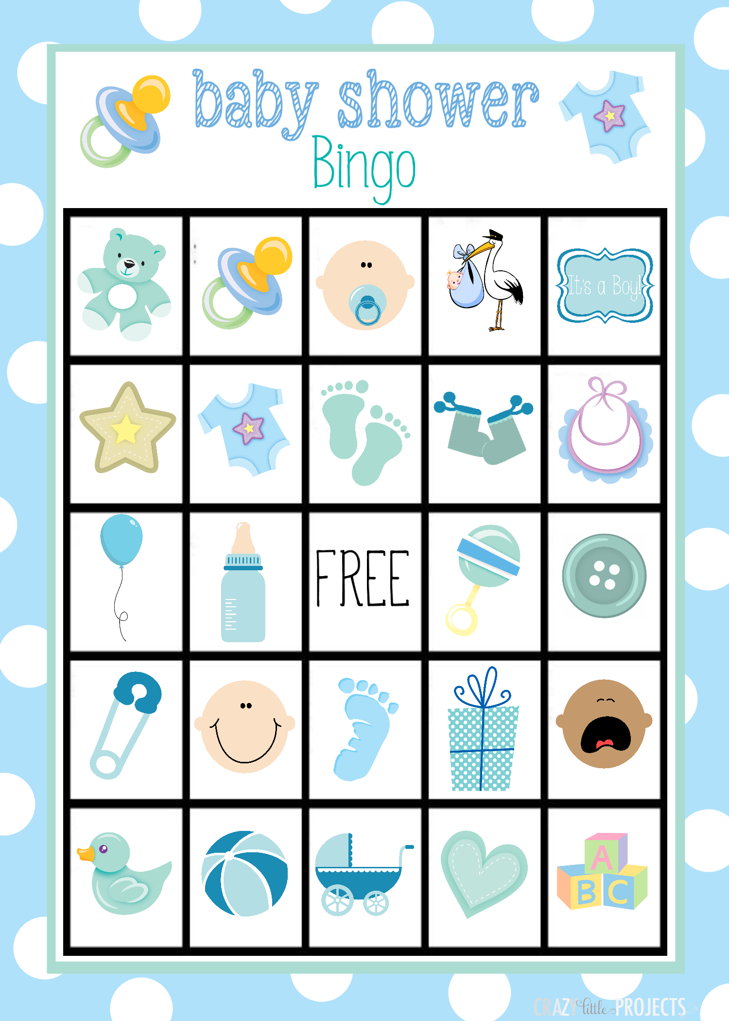 Baby Shower Bingo Cards - Free Printable Baby Shower Bingo For 50 People