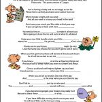 Baby Shower Candy Poem Game   Candy Bar Baby Shower Game Free Printable