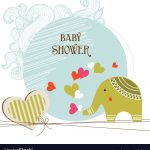 Baby Shower Card Template Royalty Free Vector Image   Free Printable Baby Shower Cards Templates