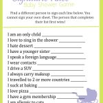 Baby Shower Signature Race Game   Find The Guest Game Free Printable