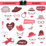 Bachelorette Event, Hen Party, Bridal Shower Printable Glasses   Free Printable Photo Booth Props Bridal Shower