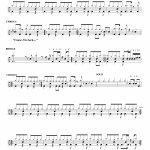 "Back In Black"" Ac/dc   Drum Sheet Music   Nick's Drum Lessons   Free Printable Drum Sheet Music"