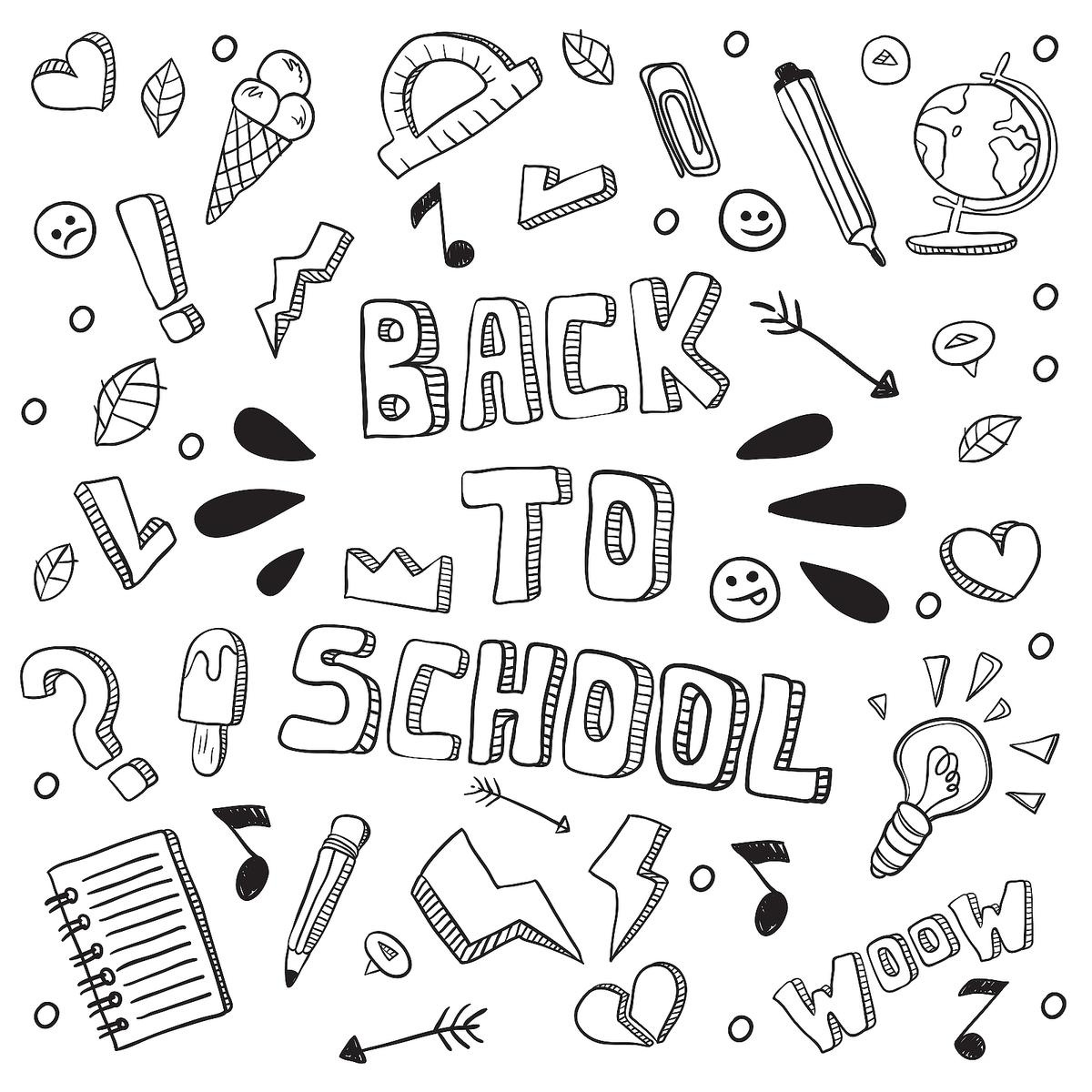 Back-To-School Coloring Pages: Fun School-Themed Printables For Kids - Back To School Free Printable Coloring Pages