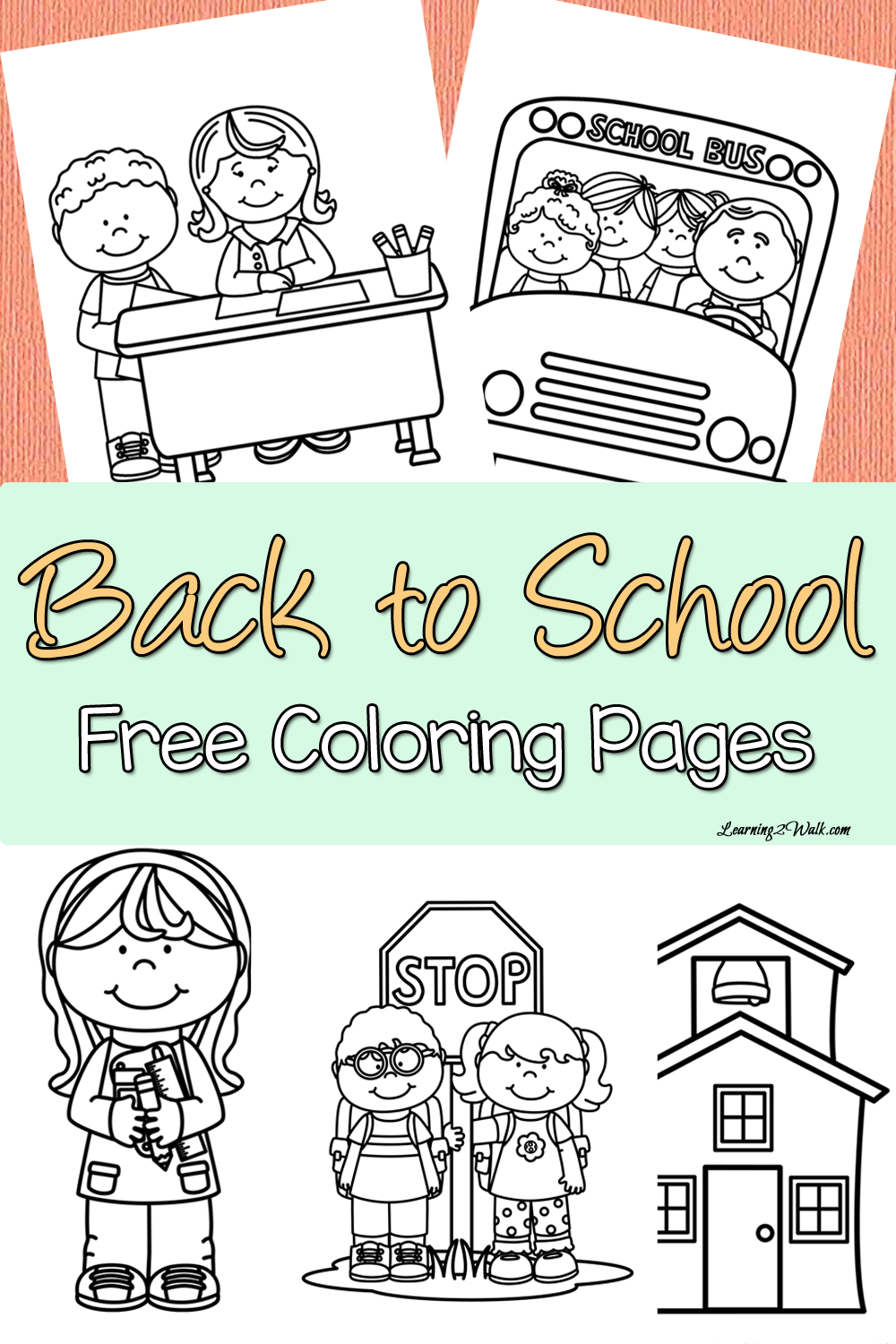 Back To School Free Coloring Page Set   Preschool Classroom   School - Free Printable Back To School Worksheets For Kindergarten
