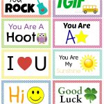 Back To School: Free Printable Lunch Box Notes   Thesuburbanmom   Free Printable School Notes