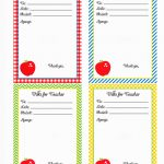 Back To School}   Free Printable Note For Teacher Cards   Mirabelle   Free Printable School Notes