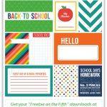 Back To School Journaling + Filler Cards | Diy Back To School Ideas   Free Printable Back To School