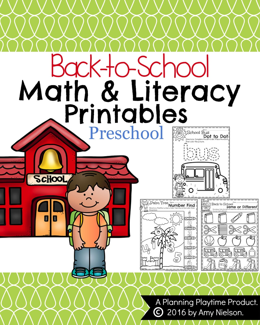 Back To School Preschool Worksheets - Planning Playtime - Froggy Goes To School Free Printables