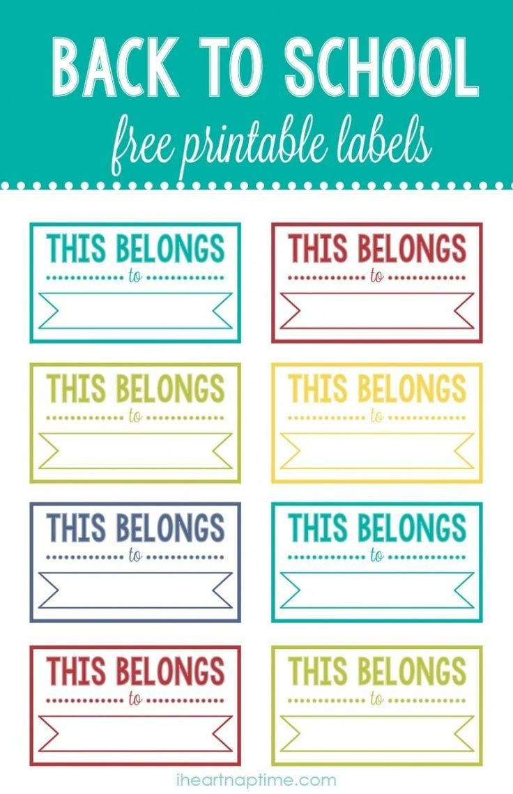 Back To School Printable Labels | I ♥ Diy | School Labels - Free Customized Name Tags Printable