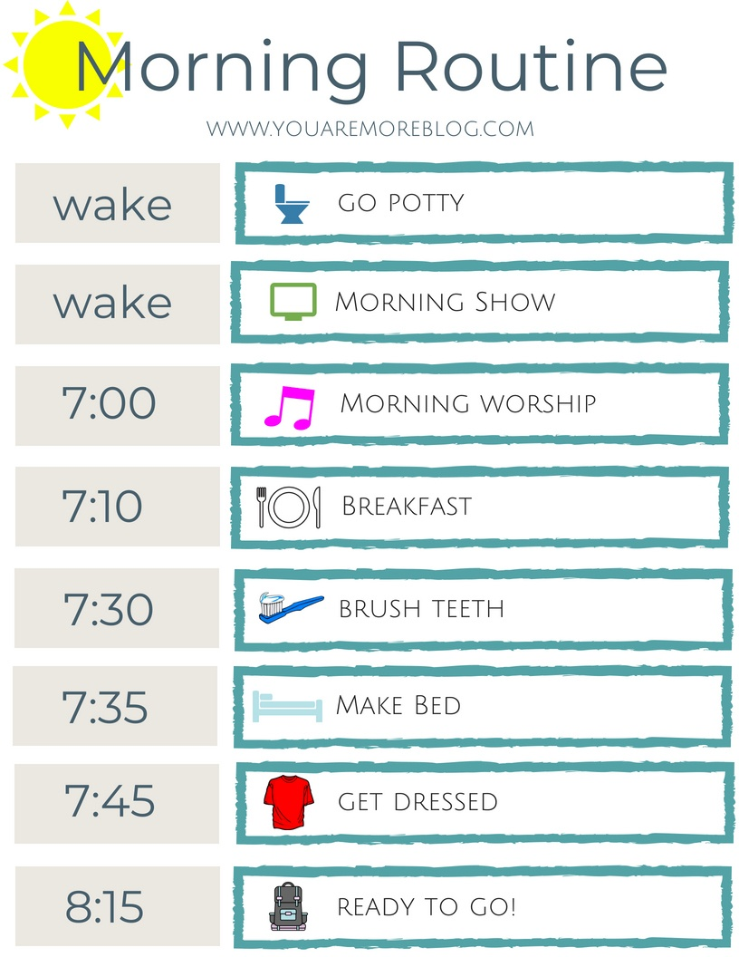 Back To School Routine Free Printable - You Are More Blog - Free Printable Morning Routine Charts With Pictures
