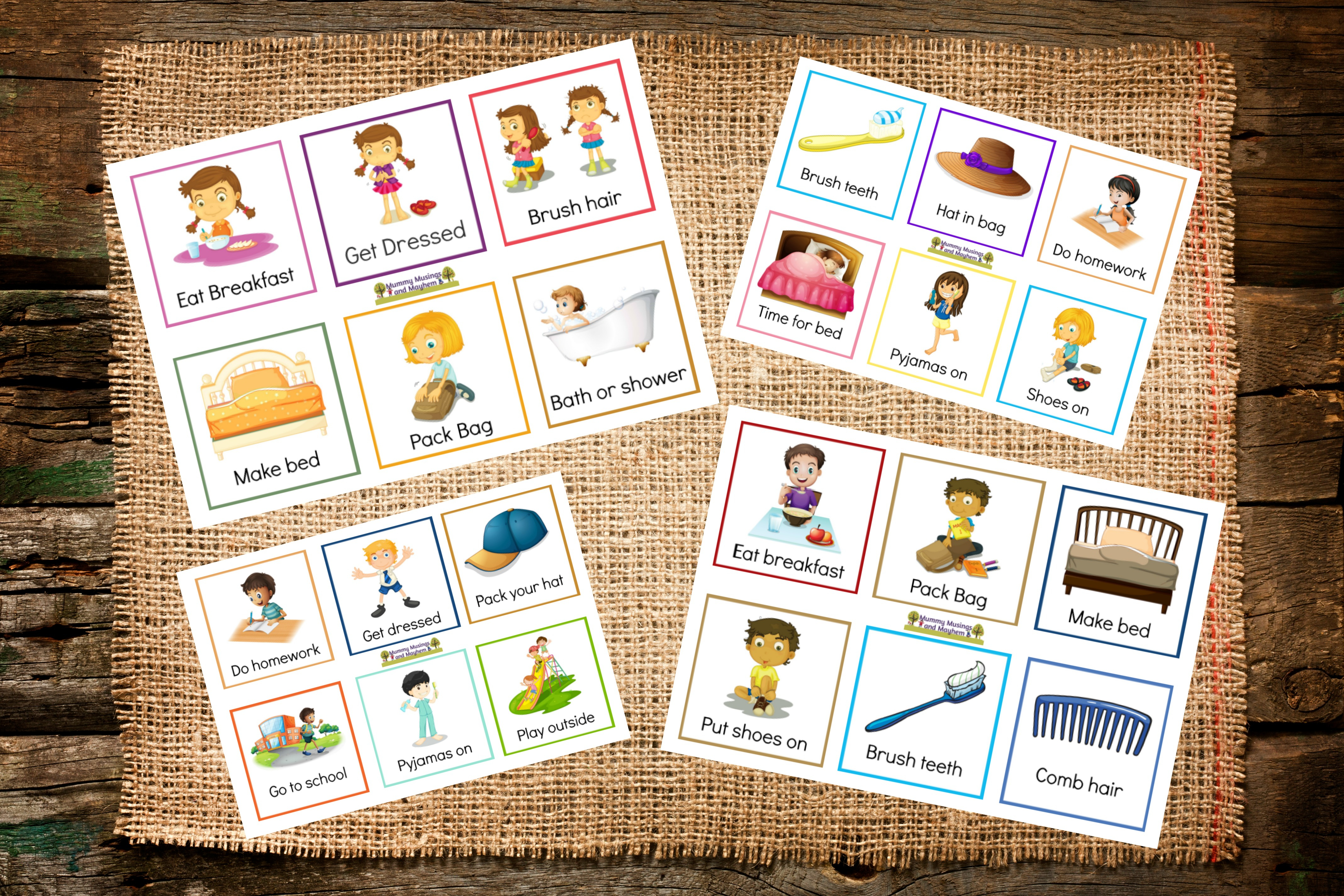 Back To School Routines - Free Printable Cards To Make It Easier - Routine Cards Printable Free