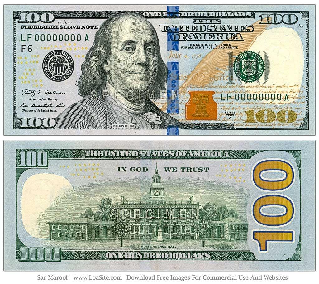 Bad News: Hidden Messages In New $100 Dollar Bill | @vop_Today | 100 - Free Printable 100 Dollar Bill