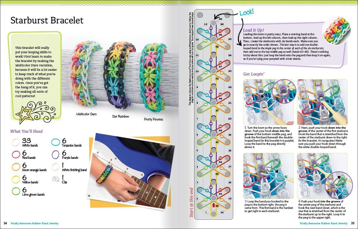 Banda Loom Patterns To Print Out For Free   Sample Pages From - Free Printable Loom Bracelet Patterns