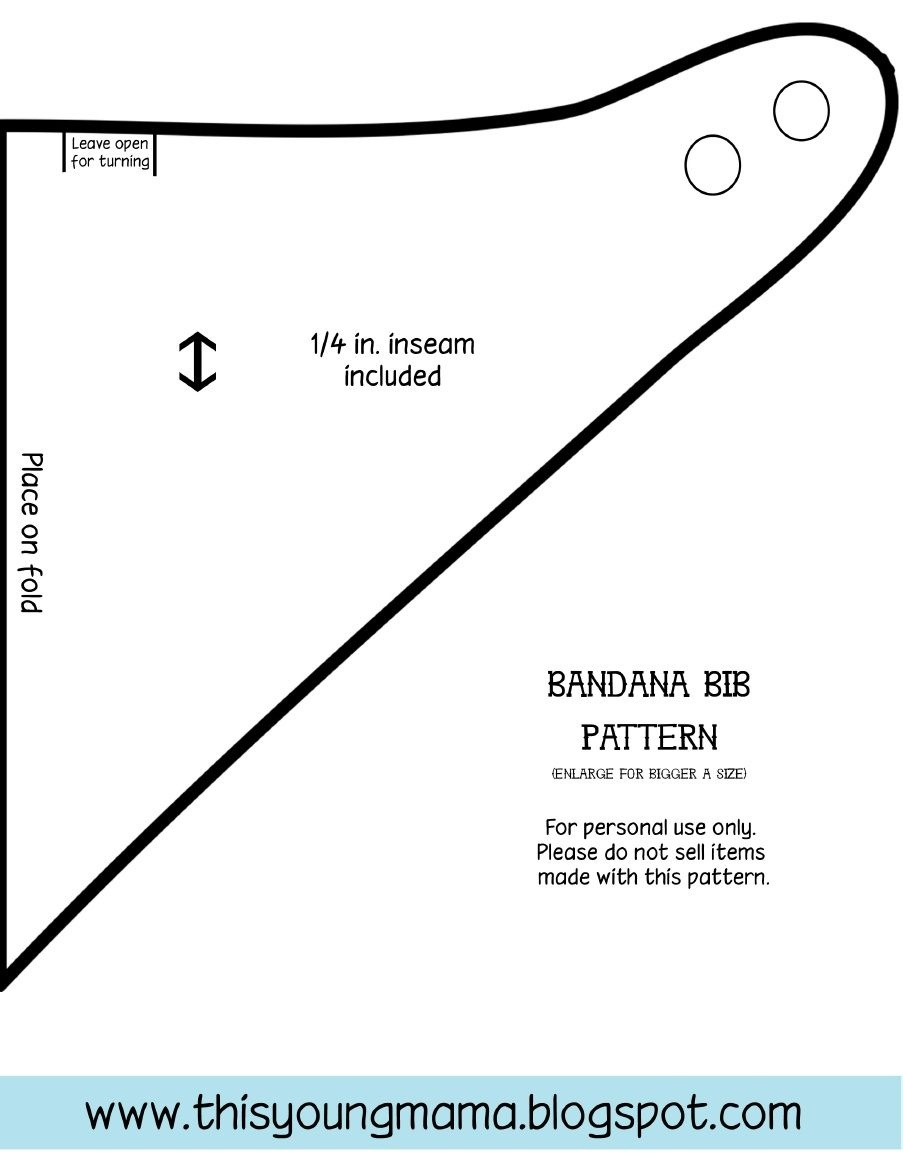 Bandana Bib Pattern | Archer | Bandana Bib Pattern, Baby Sewing, Bib - Free Printable Baby Bandana Bib Pattern