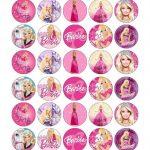 Barbie Cupcake Toppers Edible Paper Buy 2 Get 3Rd Free | Cute   Free Printable Barbie Cupcake Toppers