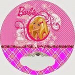Barbie Princess Charm School: Free Printable Invitation And Candy   Free Printable Barbie Cupcake Toppers
