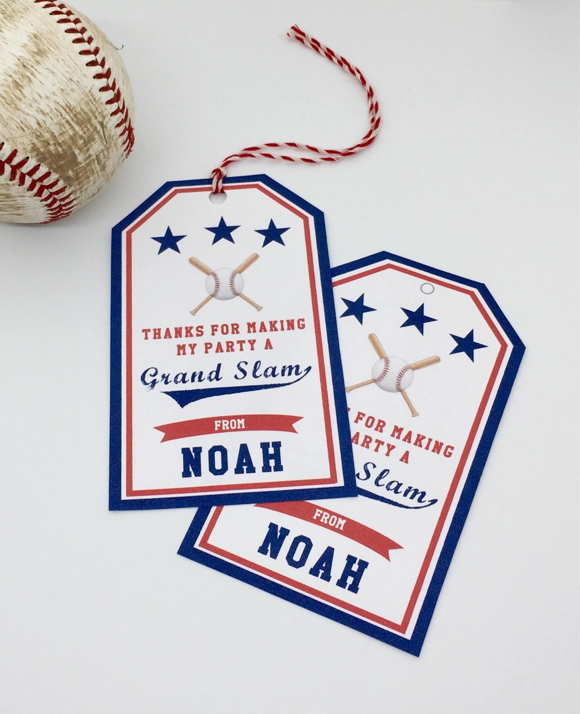 Baseball Birthday Favor Tags Sandlot Birthday Favor Tags | Etsy - Free Printable Baseball Favor Tags