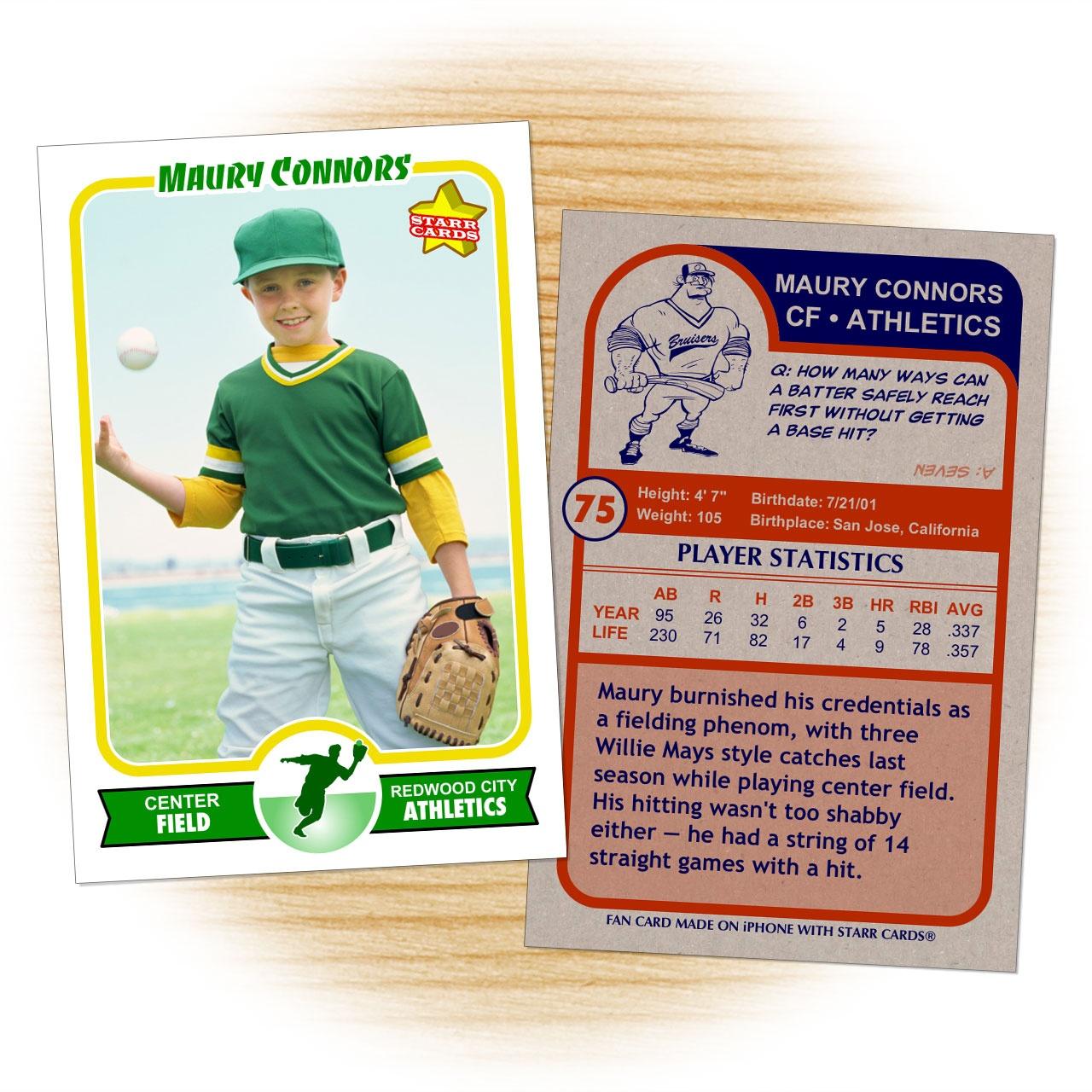 Baseball Card Layout - Kaza.psstech.co - Free Printable Baseball Card Template