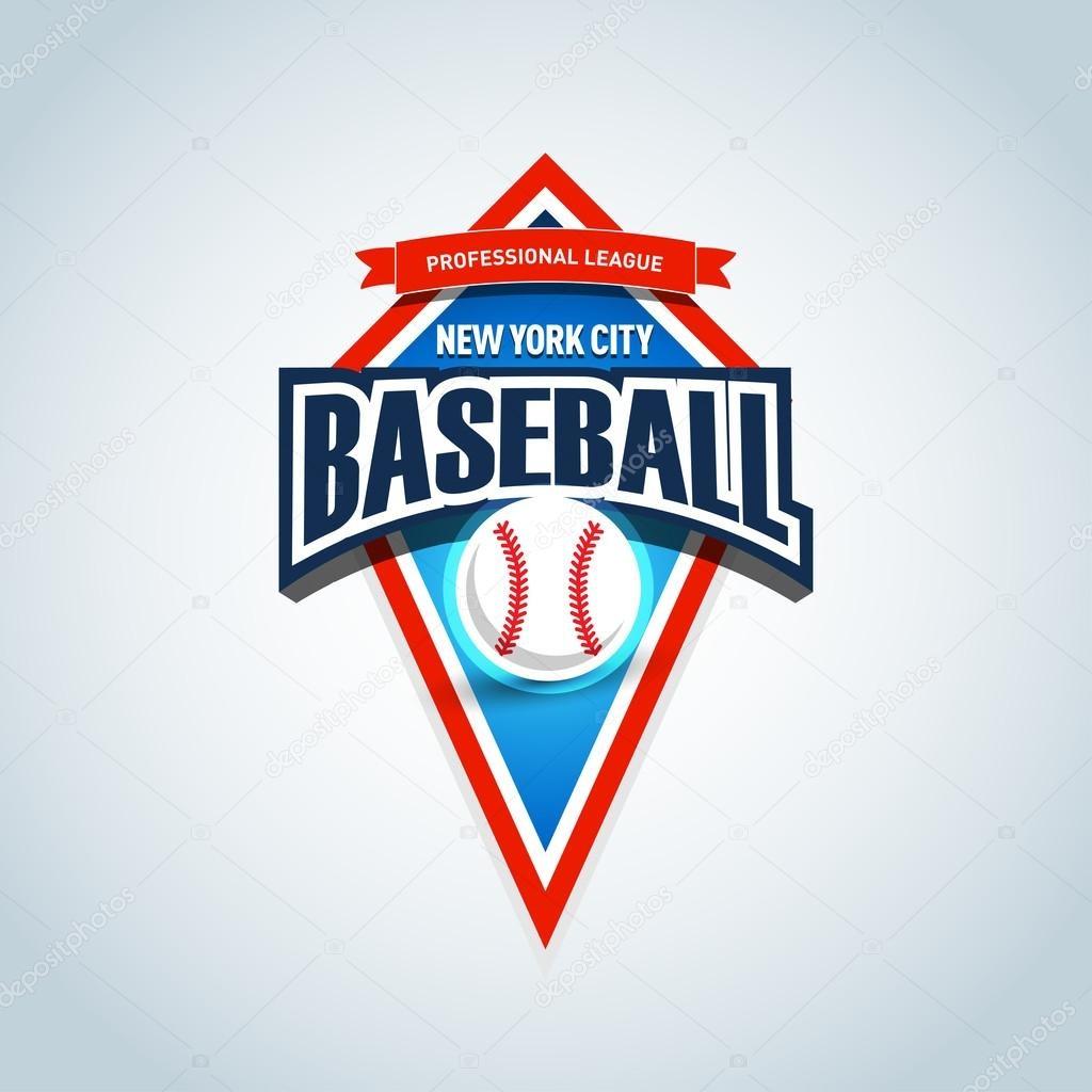 Baseball Team Logo Template — Stock Vector © Ideasign #110763612 - Free Printable Baseball Logos