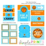 Basketball Deluxe Printable Party Package | Basketball Party | Party   Free Printable Basketball Labels