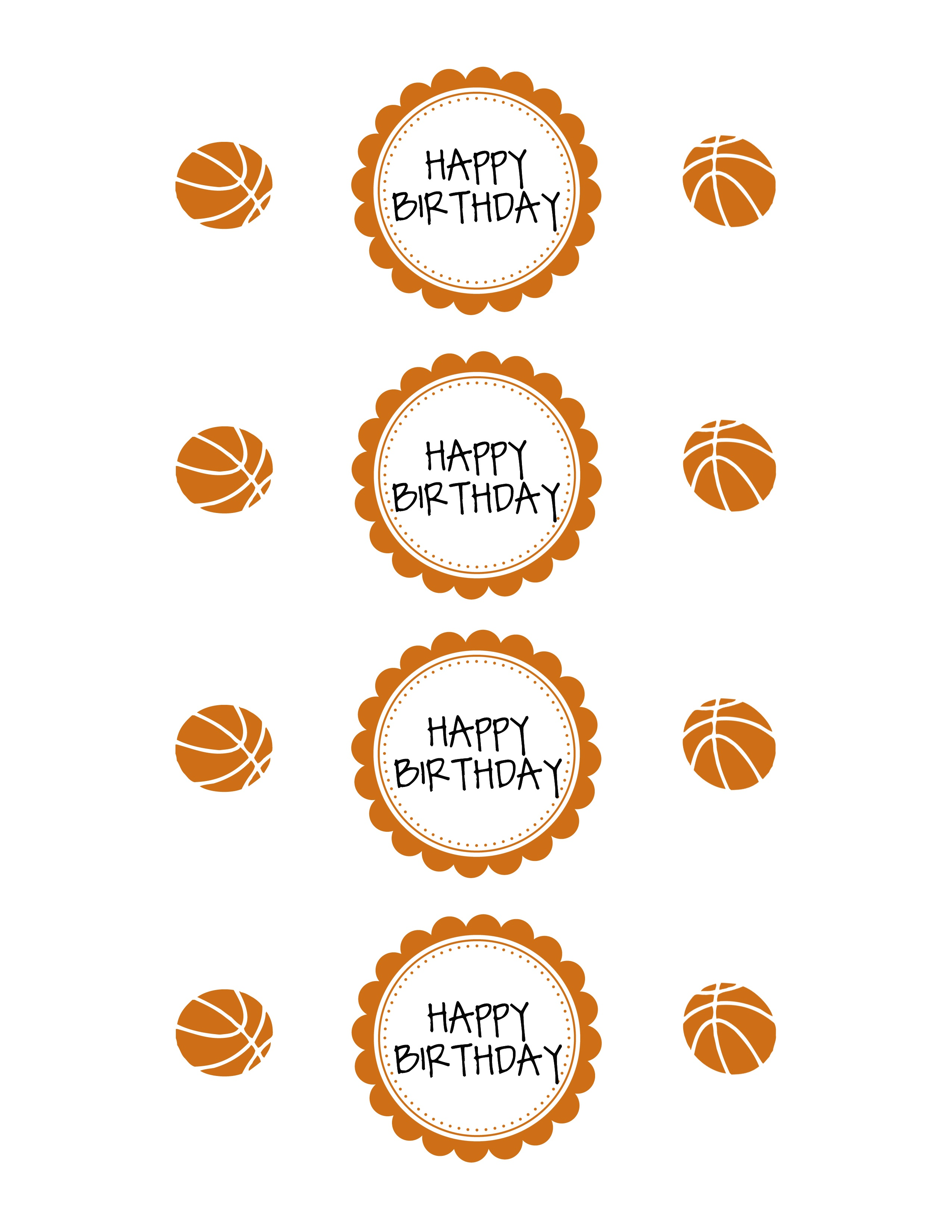 Basketball Party Printable Pack | | Sportsmomsurvivalguide - Free Printable Basketball Labels