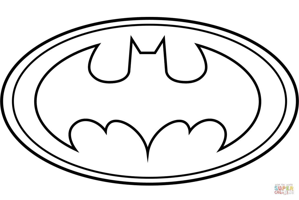 Batman Logo Coloring Page | Free Printable Coloring Pages - Clipart - Free Printable Batman Pictures