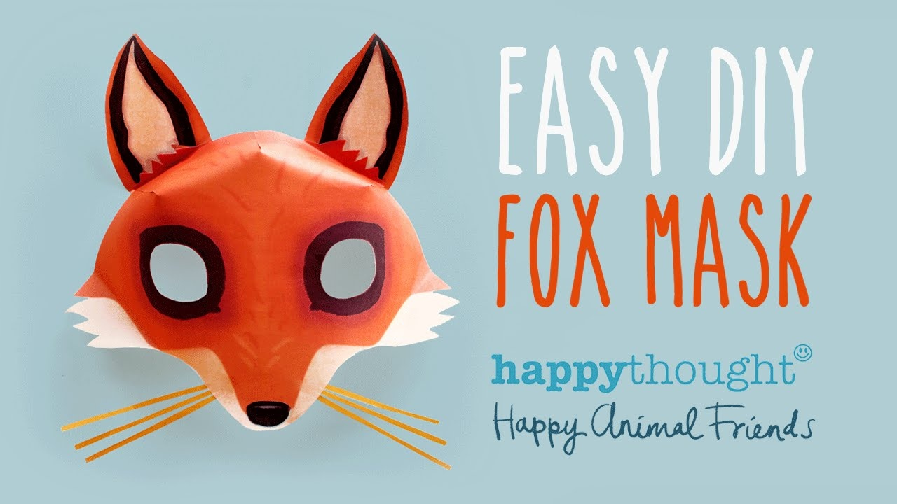Be A Fox In 5 Minutes - Try Our Free Easy Fox Mask Template! - Free Printable Fox Mask Template