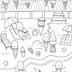 Beach Coloring Pages To Print New Free Printable Summer Coloring   Free Printable Summer Coloring Pages For Adults