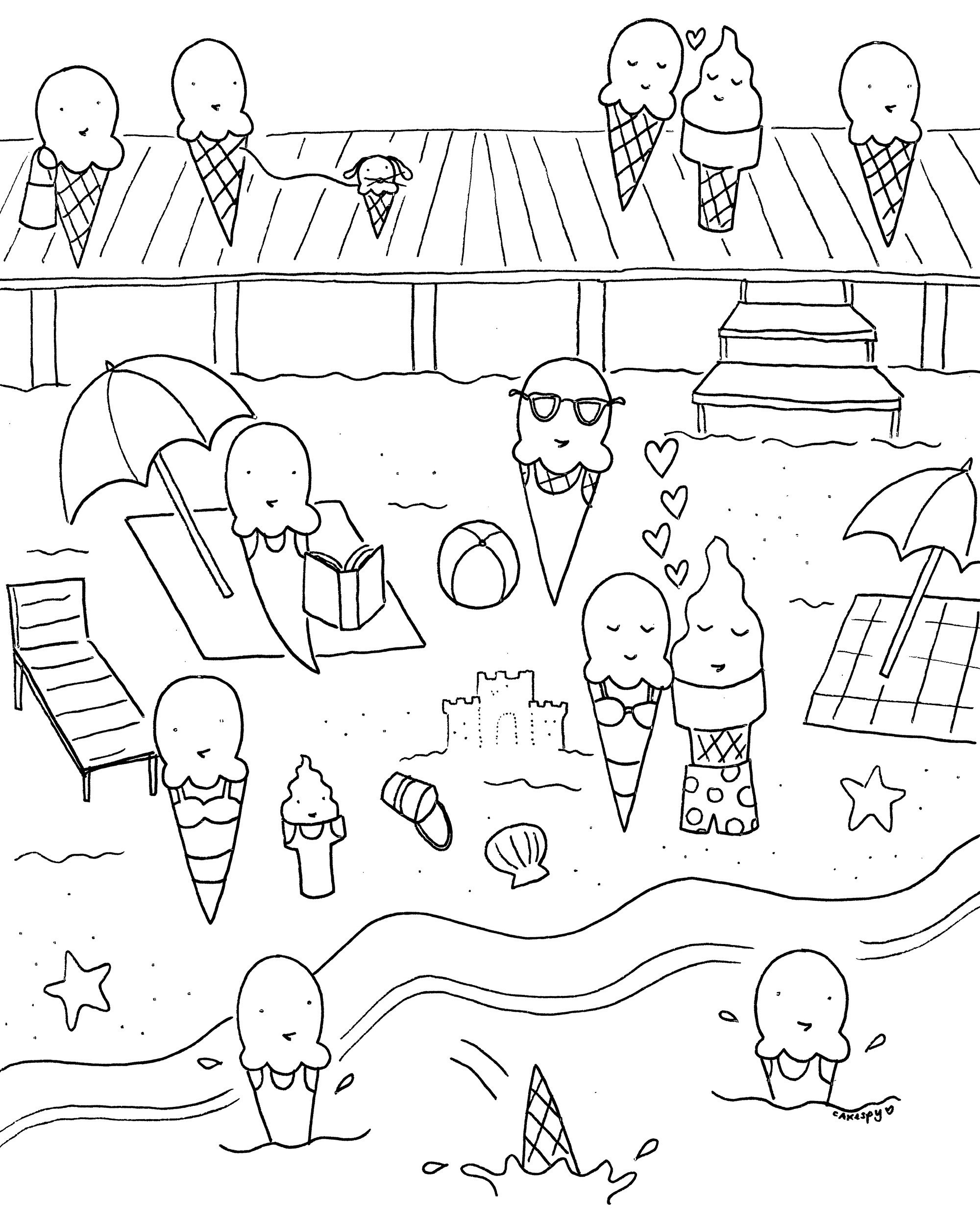 Beach Coloring Pages To Print New Free Printable Summer Coloring - Free Printable Summer Coloring Pages For Adults