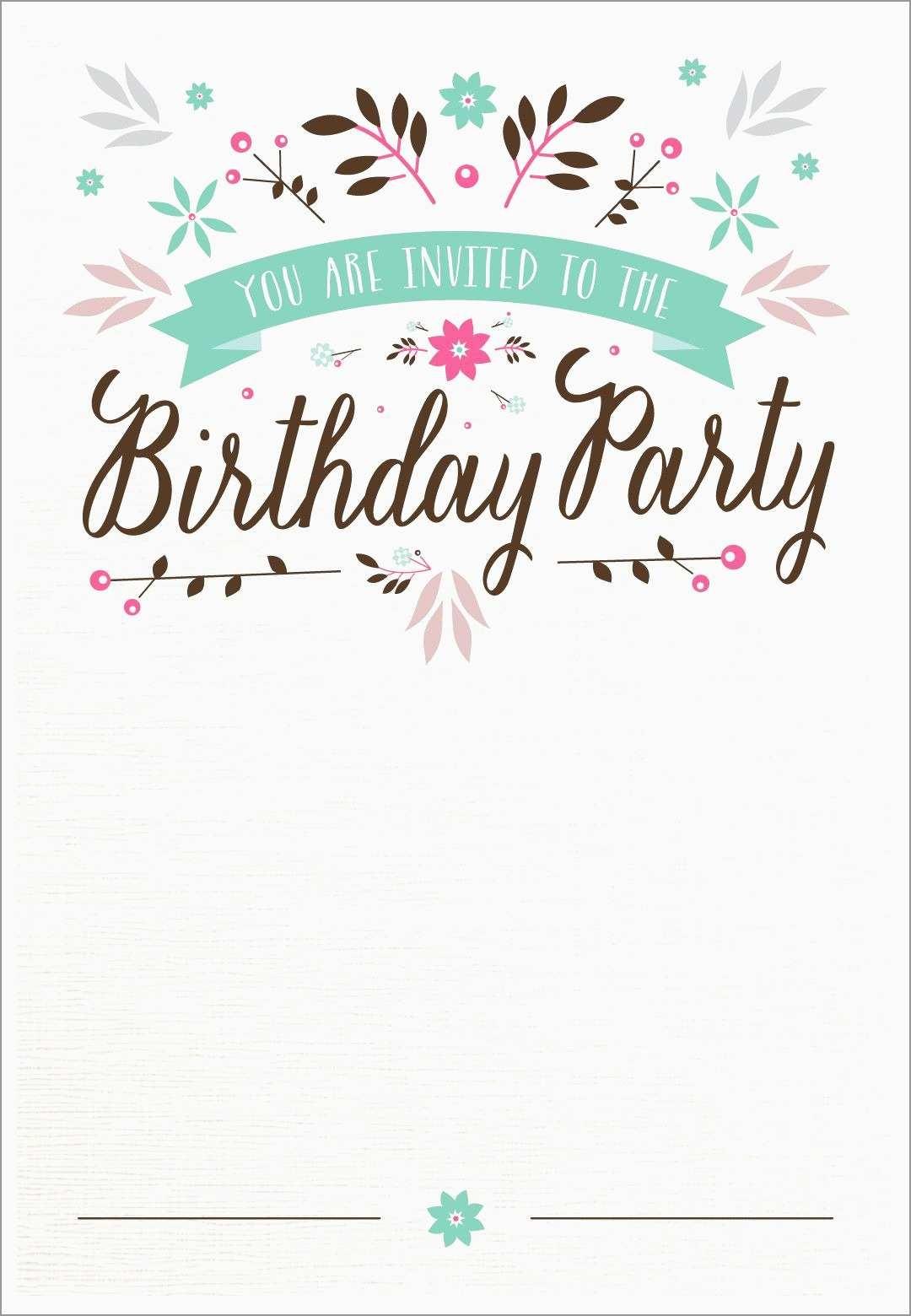 Beautiful 21St Birthday Card Templates Free | Best Of Template - 21St Birthday Invitation Templates Free Printable