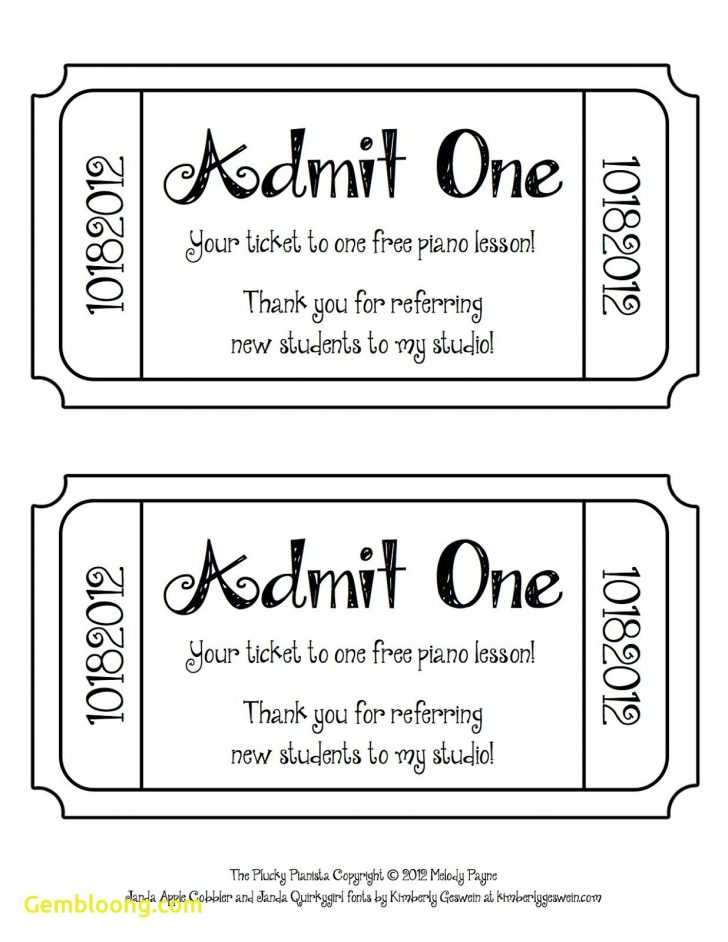 Free Printable Admit One Invitations
