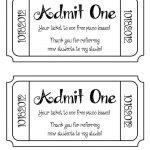 Beautiful Movie Ticket Template Free | Www.pantry Magic   Free Printable Movie Tickets