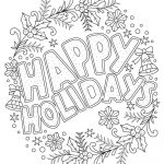 Beautiful Printable Christmas Adult Coloring Pages | Coloring Pages   Free Printable Christmas Coloring Pages
