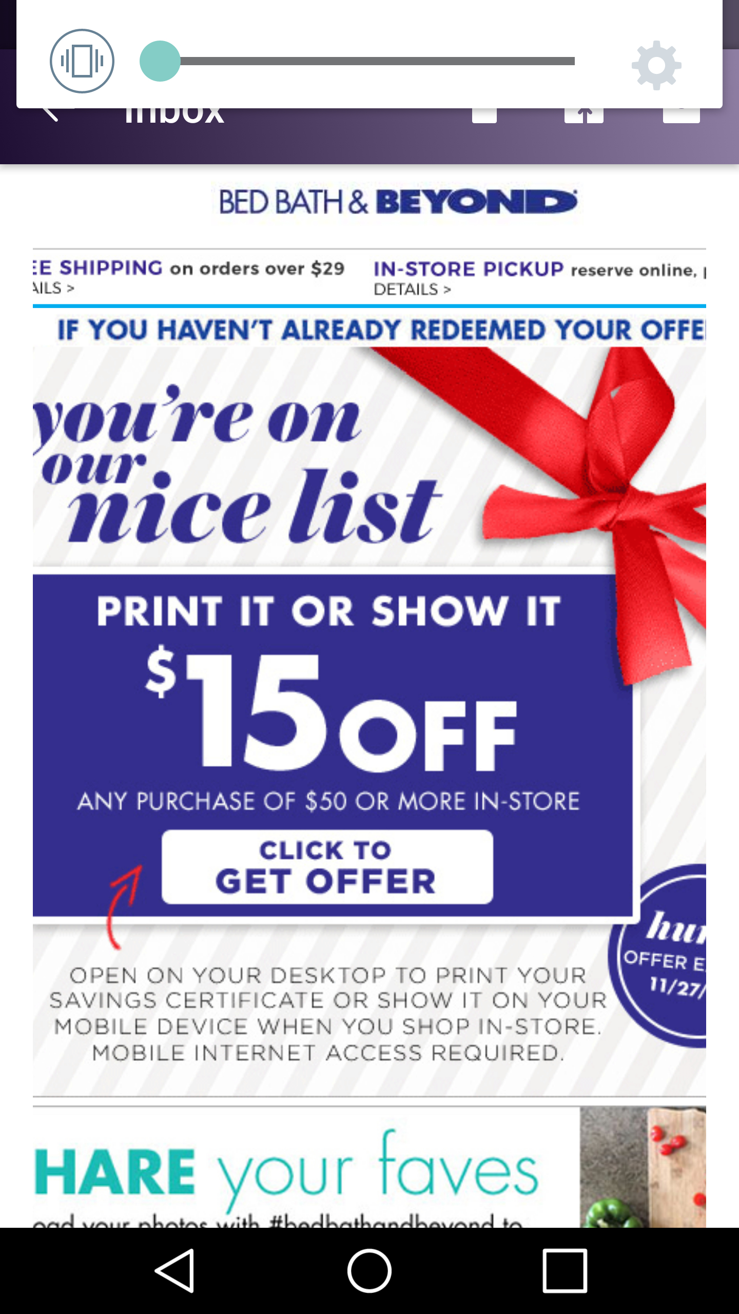 Bed Bath & Beyond $15 Off $50 Purchase Coupon (Check Email) - Hip2Save - Free Printable Bed Bath And Beyond 20 Off Coupon