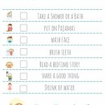 Bed Time Routine Checklist: Free Printable     Free Printable Bedtime Routine Chart