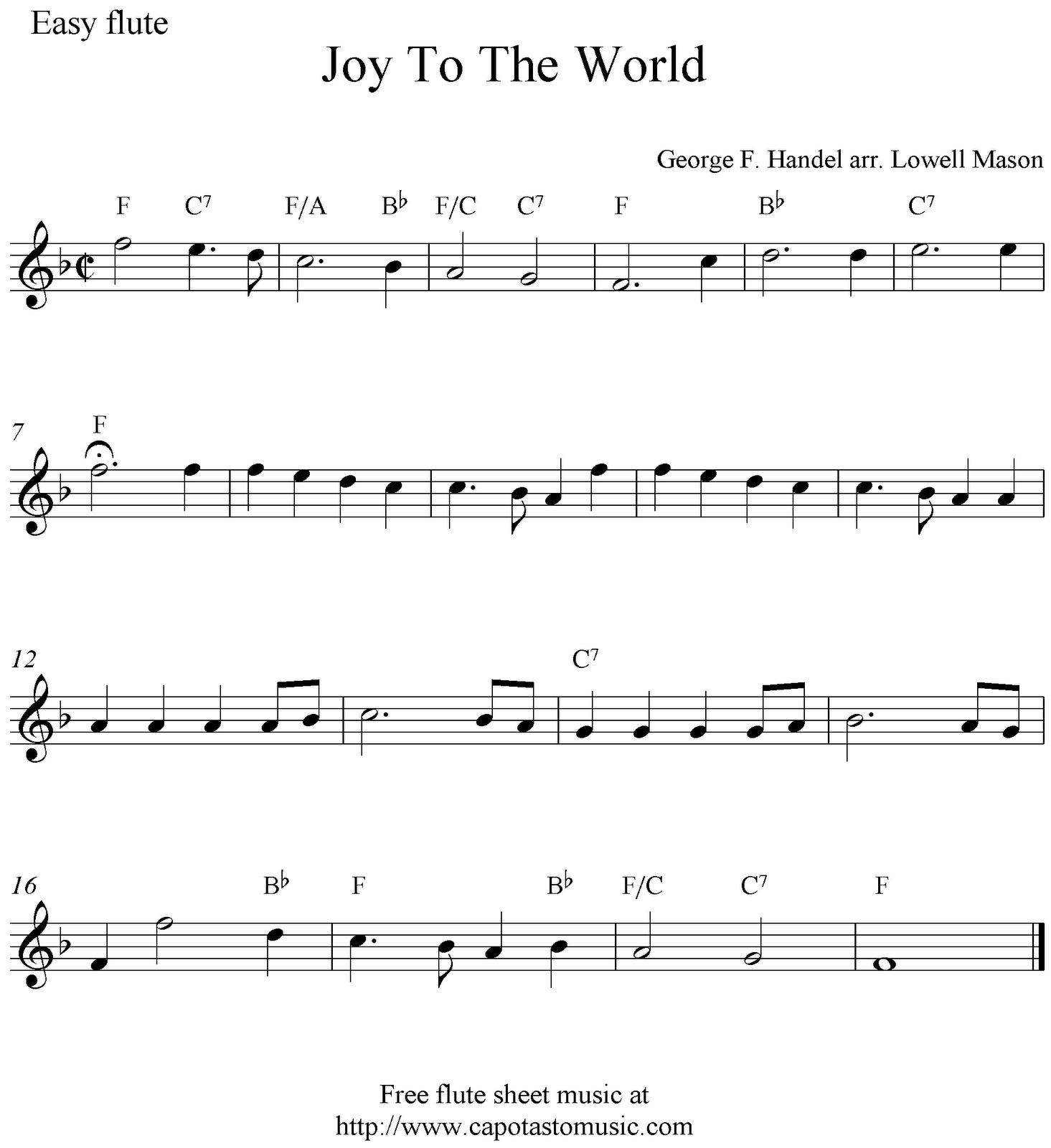 Beginner Flute Sheet Music Pdf - Free Printable Flute Sheet Music For Pop Songs