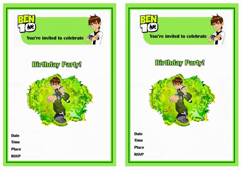 Ben 10 Birthday Invitations   Birthday Printable - Free Printable Ben 10 Cupcake Toppers