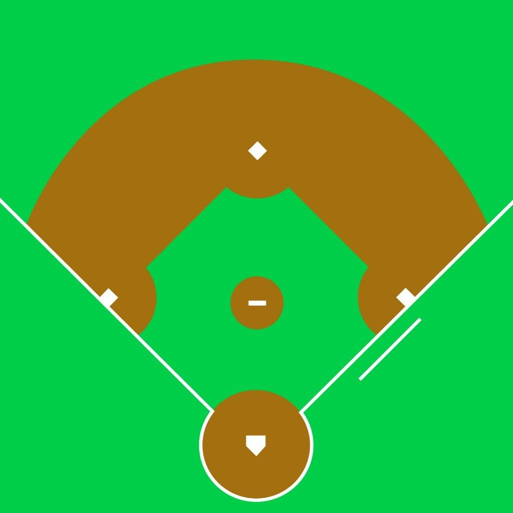 Best Baseball Field Clip Art #4784 - Clipartion | Templates - Free Printable Baseball Field Diagram