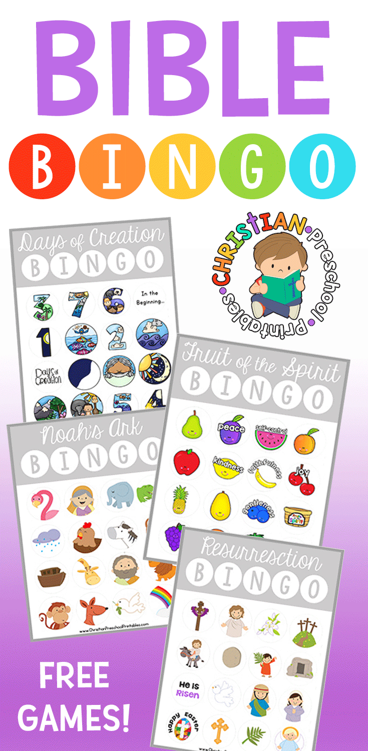Bible Bingo - Christian Preschool Printables - Bible Bingo Free Printables