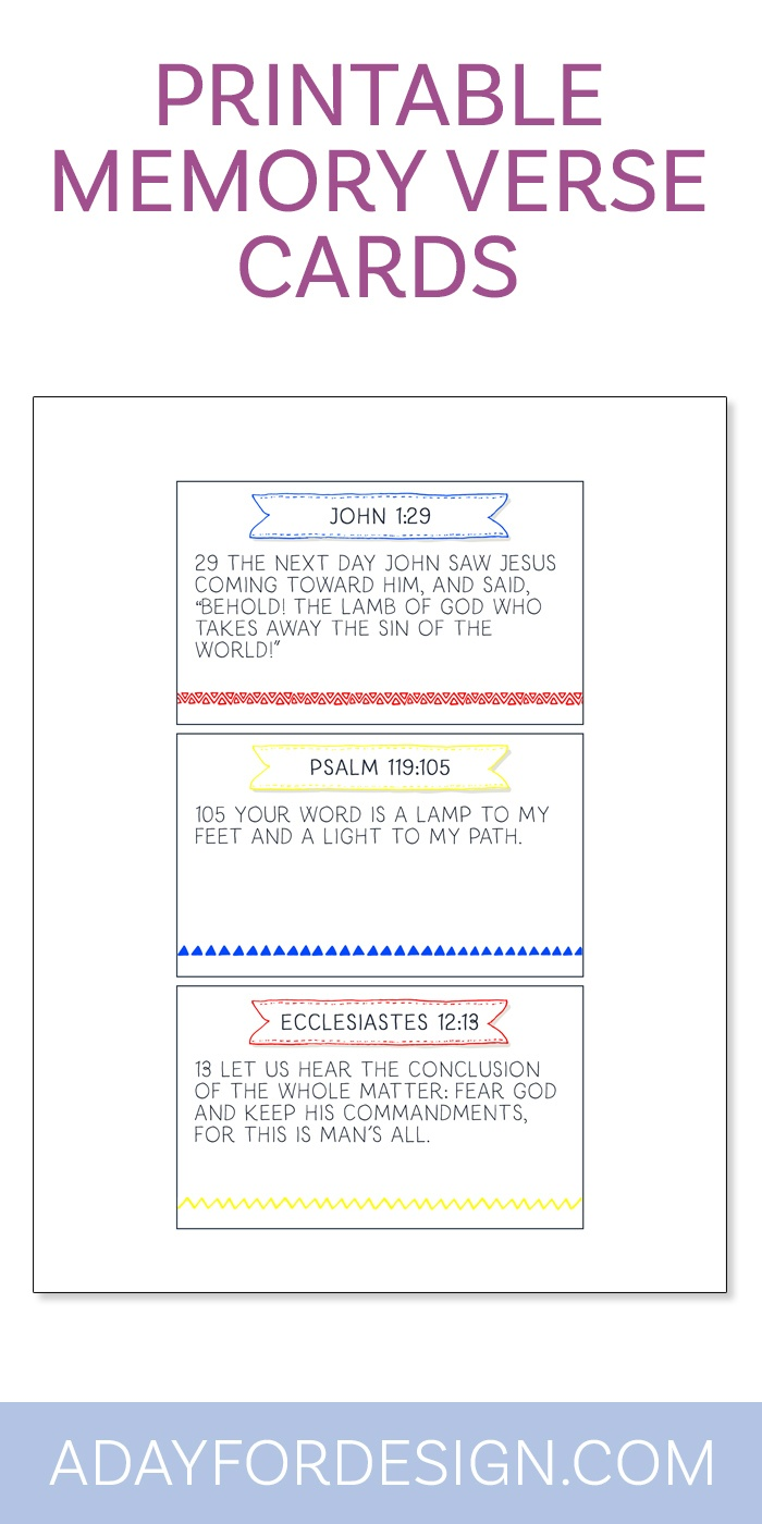 Bible Class Printable Archives — A Day For Design - Free Printable Bible Verses Adults