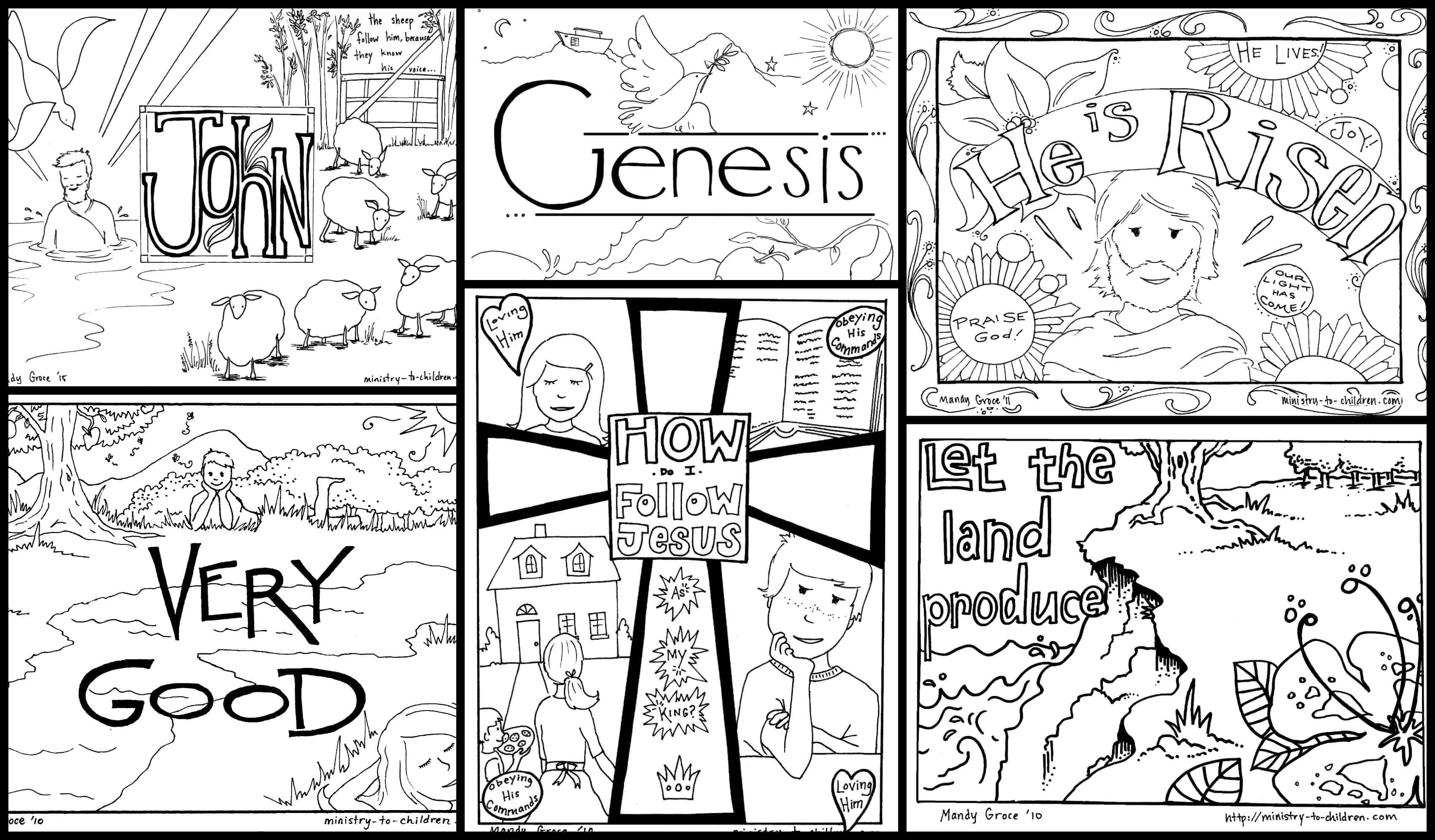 Bible Coloring Pages For Kids [Free Printables] - Free Children's Bible Printables