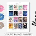 Bible Scripture – Planner Addiction   Free Printable Bible Verse Labels