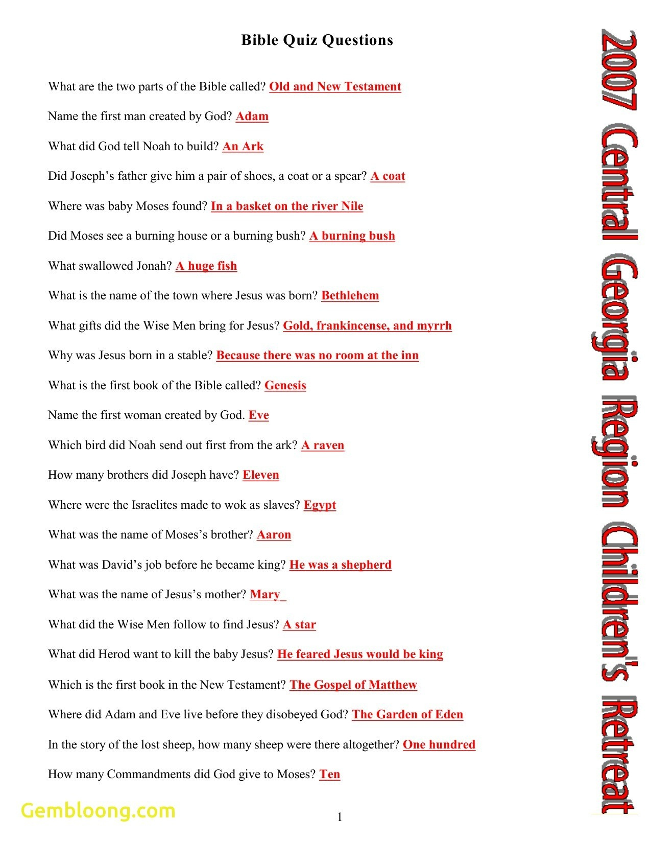 Bible Trivia Printable (90+ Images In Collection) Page 1 - Free Printable Bible Trivia Questions And Answers