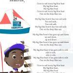 Big Blue Boat Nursery Rhyme Lyrics Free Printable Nursery Rhyme   Free Printable Nursery Rhymes Songs